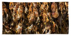 Drying Fish Heads - Iceland Beach Towel