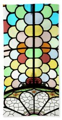 Beach Sheet featuring the photograph Dublin Art Deco Stained Glass by KG Thienemann