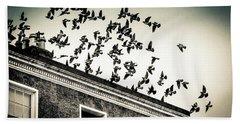 Flight Over Oscar Wilde's Hood, Dublin Beach Towel