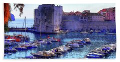 Dubrovnik Harbour Beach Towel