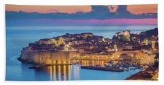 Dubrovnik Twilight Panorama Beach Sheet