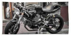 Beach Towel featuring the photograph Ducati Sport 1000 by Mitch Shindelbower