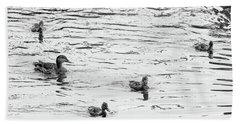 Duck And Ducklings Beach Sheet