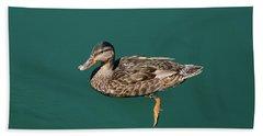 Duck Floats Beach Towel