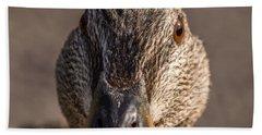 Duck Headshot Beach Towel