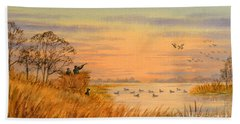 Duck Hunting Calls Beach Sheet