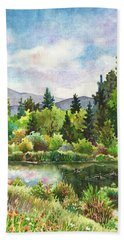 Duck Pond At Caribou Ranch Beach Towel