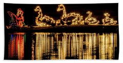 Duck Pond Christmas Beach Towel