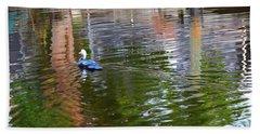 Duck Reflections Beach Towel