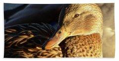 Duck Sunbathing Beach Sheet