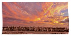 Beach Sheet featuring the photograph Ducks In A  Row by Peter Tellone