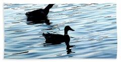 Ducks In The Evening Beach Towel