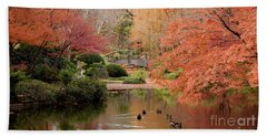 Ducks In The Pond Beach Towel