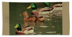Ducks Race Beach Towel
