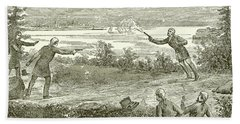 Duel Between Alexander Hamilton And Aaron Burr Beach Towel