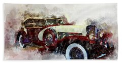 Duesenberg Watercolor Beach Towel