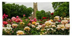 Duke Chapel And Roses Beach Towel