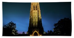 Duke Chapel Lit Up Beach Towel
