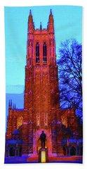 Duke University Chapel Beach Towel