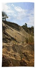 Beach Towel featuring the photograph Dune And Blue Sky by Michelle Calkins