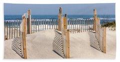 Dune Fence Landscape Beach Towel