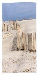 Dune Fence Portrait Beach Towel