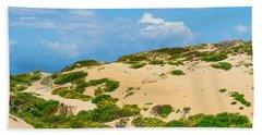 Dune Flowers Beach Towel by Derek Dean