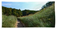 Beach Towel featuring the photograph Dune Path At Laketown by Michelle Calkins