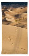 Dunefield Footprints Beach Towel by Adam Pender