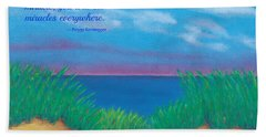 Dunes At Dawn - With Quote Beach Towel