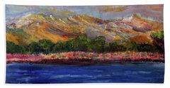 Beach Towel featuring the painting Dunes At Pilgrim Lake by Michael Helfen