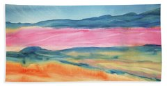 Beach Towel featuring the painting Dunes by Ellen Levinson