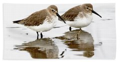 Dunlin Seeing Double Beach Towel