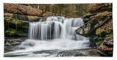 Dunloup Creek Falls Beach Towel