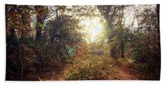 Dunmore Wood - Autumnal Morning Beach Towel