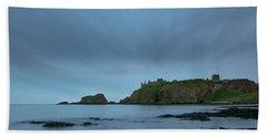Dunnottar Castle On A Summer Night Beach Towel