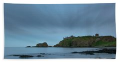 Dunnottar Castle On A Summer Night Beach Sheet