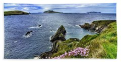 Dunquin Flowers  Beach Towel