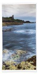 Dunure Castle Scotland  Beach Towel