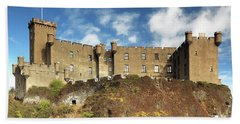 Beach Towel featuring the photograph Dunvegan Castle by Grant Glendinning