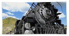 Durango Silverton Locomotive 481 - Pride Of Colorado Beach Sheet by Daniel Hagerman