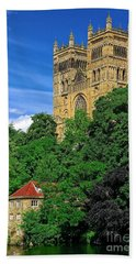 Durham Cathedral And Wool Mill Beach Towel