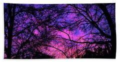 Dusk And Nature Intertwine Beach Towel
