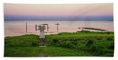 Dusk At Battle Point, Accomac, Virginia Beach Towel