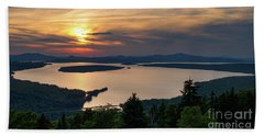 Beach Towel featuring the photograph Dusk, Mooselookmeguntic Lake, Rangeley, Maine -63362-63364 by John Bald