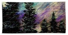 Dusk On Purple Mountain Beach Sheet by Scott D Van Osdol