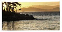 Dusk On Sucia Island Beach Sheet