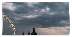 Beach Towel featuring the photograph Dusk Over Budapest by Alex Lapidus
