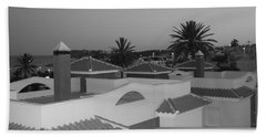 Beach Towel featuring the photograph Dusky Rooftops by Linda Prewer