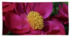 Dusted In Peony Pollen Beach Towel